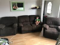 2 seater & 2 armchairs (all recliners)