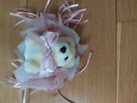 New, small bear as gift decoration or to hang on a Xmas tree