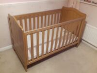 Mothercare pine cotbed