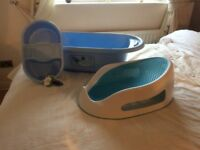 Baby bath and support seat