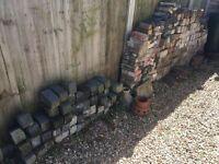 Variety of bricks and kerbs, including 30 engineering bricks.