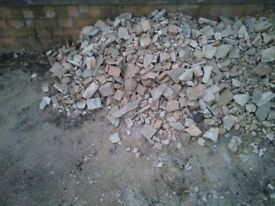 Free broken bricks / rubble / hardcore / small stones