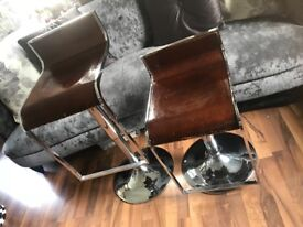 Real wood high quality Chrome stools £30 for 2