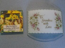 """GRANDMA"" GLASS PLAQUE & PICTURE"