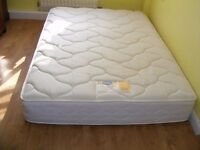 CAN DELIVER - 4ft6 SILENTNIGHT MIRACOIL DOUBLE MATTRESS IN V.G.C. - ONLY 6 MONTHS OLD
