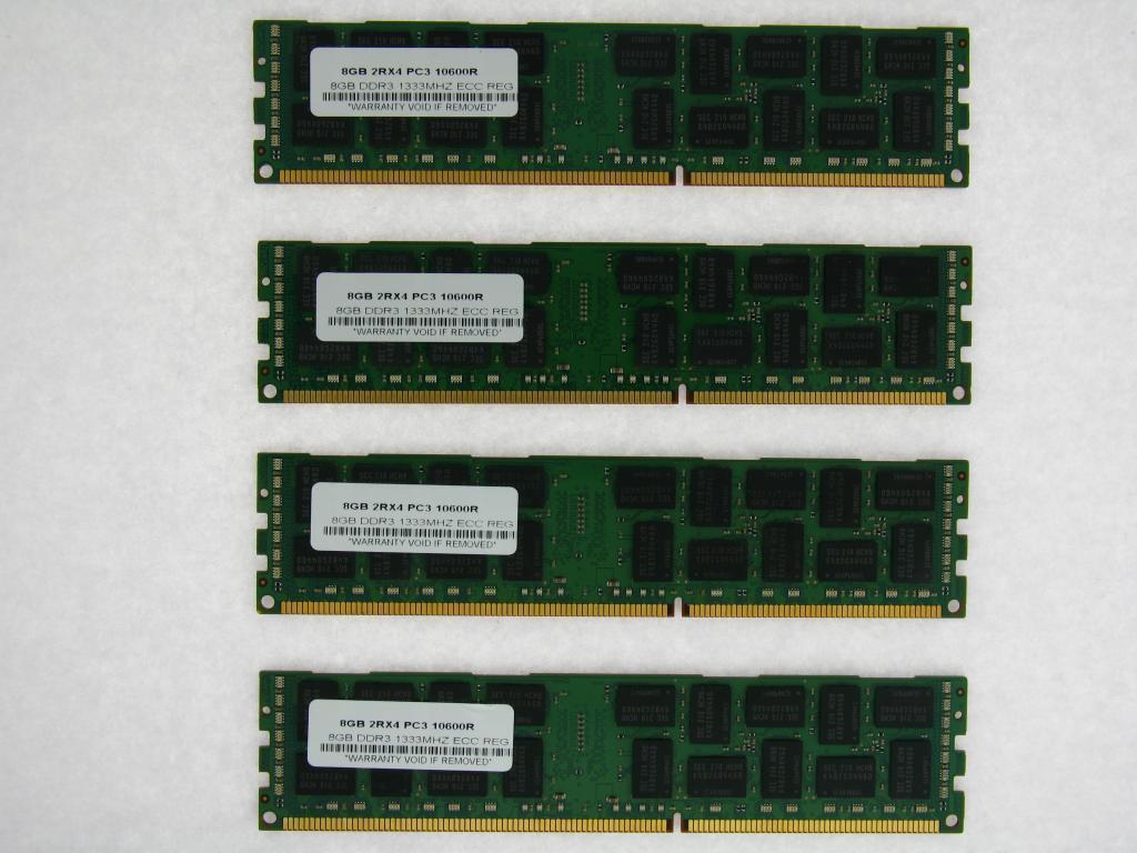 PC3-10600R FOR HP Proliant DL320 G6 DL360 G6//G7 REG DDR3 MEMORY 32GB 8X4GB