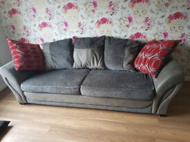 3 seater sofa and Cuddle Chair