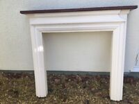 Lovely solid fireplace surround