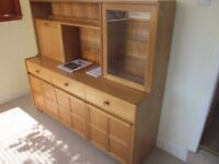 NATHAN BY PARKER KNOLL TEAK DISPLAY CABINET . SIDE BOARD