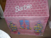 BARBIE FABRIC PLAYHOUSE - INDOOR & OUTDOOR USE