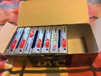 7 Panasonic Mini DVC digital tapes