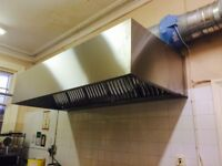 Stainless Steel Extraction Canopy/Hood 2500mm/3000mm/5000mm