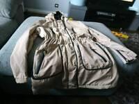 Size 14 ladies beige coat