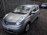 NISSAN NOTE ACENTA 1.4 PETROL 2008 5 Dr SILVER 84,000 MILES MOT 30/03/19 SERVICE HISTORY
