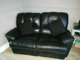 Three piece leather sofa
