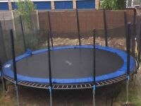 16ft trampoline plus enclosure (Less then year old)