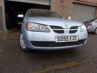 55 NISSAN ALMERA S 1.5,5 DOOR,MOT OCT 017,FULL SERVICE HISTORY,2 KEYS,2 OWNERS,VERY LOW MILEAGE CAR