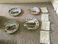 4 Train limited edition Royal Doulton Plates with Plate issue no.