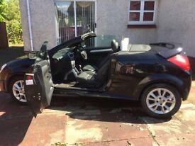 2006 Vauxhall Tigra sport convertible, 1.4L Petrol, Mileage 61k, Black