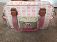 Yummy mummy bag - pink butterflies