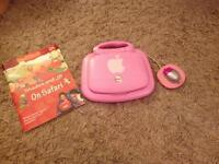 v-tech girls laptop - comes with unused book
