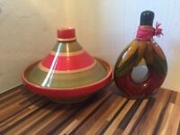 Gorgeous Tagine and matching pepper vase, tagine never used, perfect condition