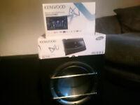 Kenwood Car Audio System - Double Din head unit - Sub - Amp