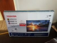 Toshiba 55inch 4K Ultra HD LED Smart TV, WiFi and HD freeview builtin, 3 months old, hardly used