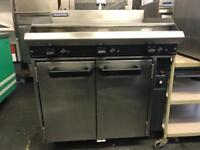 Blue seal flat grill and under part oven commercial catering kitchen equipment restaurant cafe shop