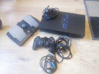 Playstation 2 Console CONTROLLER & games Bundle