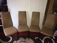 Dining table chairs - set of 4