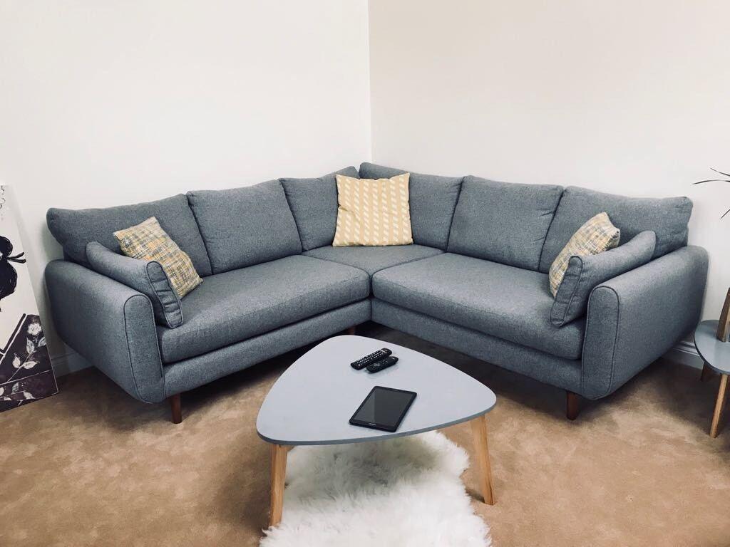 Dfs Grey Corner Sofa Mint Condition In Exeter Devon