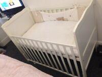 Baby's wooden cot