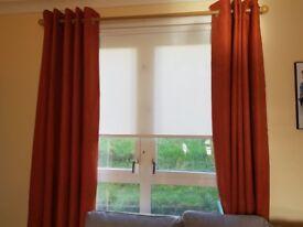 Burnt orange terracota curtains