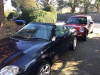 Mgr sports convertible, Very clean, leather seats no rips. New tyres all round. Mot till june 2017