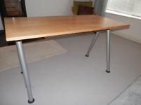 "Ikea ""Galant"" Office Desk - beach"