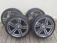 "Bmw M6 Double Spoke Style Alloy Wheels and Tyres 18""(Nearly new Tyres)"