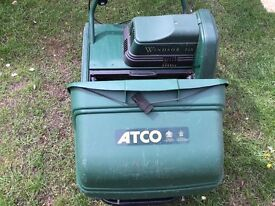ATCO Windsor 14S electric self propelled lawnmower and scarifier.