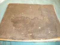 A 1st WORLD WAR 1919 SCRAP BOOK WITH 14 WATERCOLOUR PAINTINGS IN IT BY RONALD Mc ITENDALE