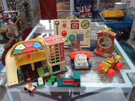 Fisher price vintage job lot of toys