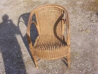 vintage wicker chair for sale