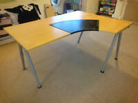 IKEA GALANT beech right corner desk