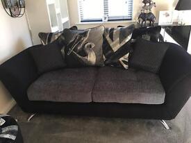Grey charcoal black sofa sofology napiette range 3 seater