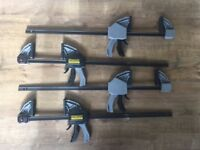 4x Stanley FMHT0-83240 FatMax XL Trigger Clamp 600mm / 24 inch