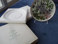 12 Franklin Mint Limited Edition RHS Wedgewood Porcelain Plates - Full Set, all perfect