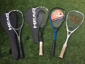 Squash rackets for sale