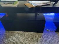 Table led to cabniet