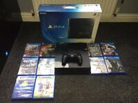 PS4 (Sony playstation 4) Comes W/ All cables and wiring / Controller / Boxing /Games