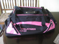 Sports Bag, Total Fitness. Black and pink. In very good condition, hardly used.