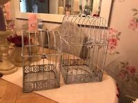Set of two bird cages